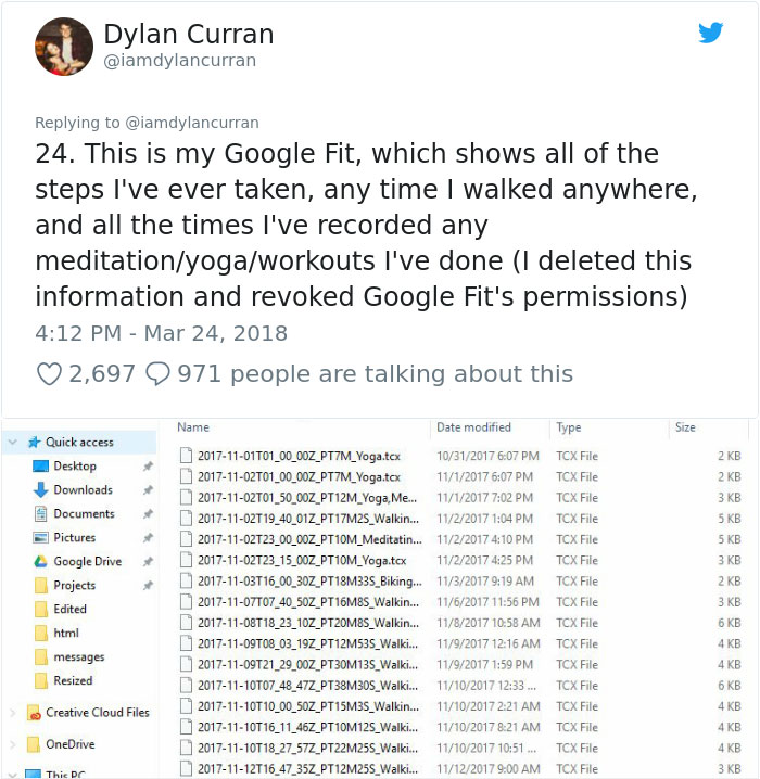 facebook-google-data-know-about-you-dylan-curran-21 The Internet Is In Shock After This Guy's Post Reveals How Much Facebook And Google Knows About You Design Random
