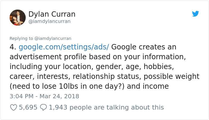 facebook-google-data-know-about-you-dylan-curran-5 The Internet Is In Shock After This Guy's Post Reveals How Much Facebook And Google Knows About You Design Random