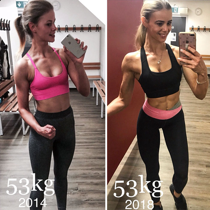 same-weight-fitness-incredible-transformations23-5aab9a563107f__700 28 Before & After Photos That Prove Your Weight Is Meaningless Design Random