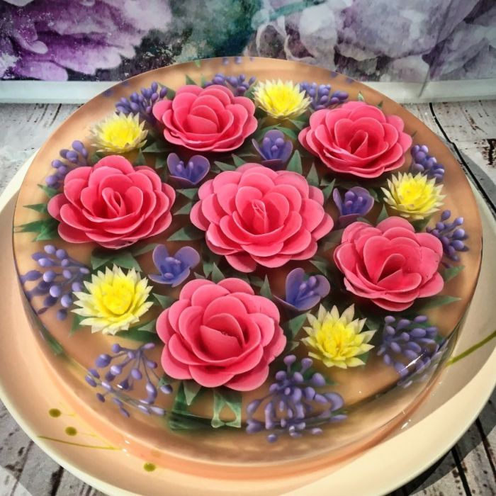 A Customer Requested For 3D Jelly Cakes To Be Made For Her Wedding