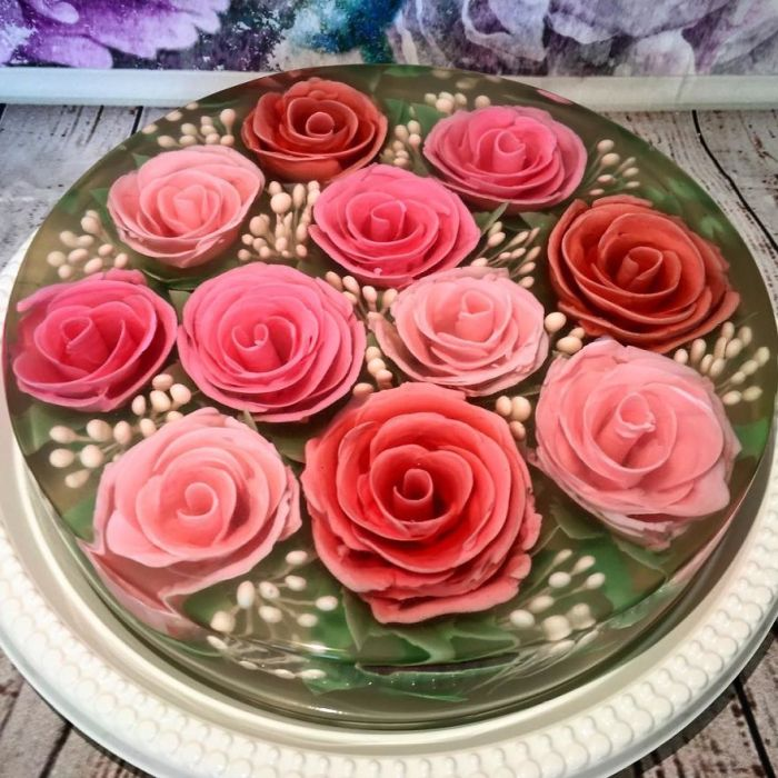 """Bed Of Pink Roses In 8"""""""