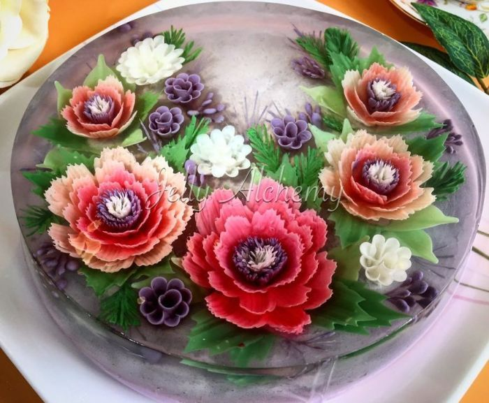 Lychee And Roselle 3D Jelly Cake