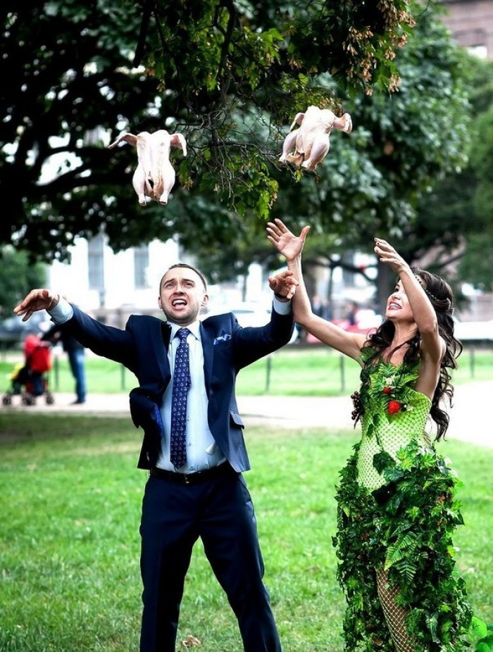 Bride And Groom Releasing Doves Of Peace On Their Special Day
