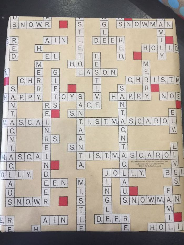 This Scrabble Wrapping Paper