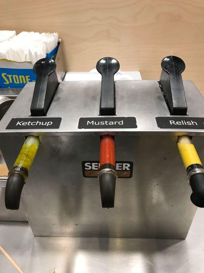This Condiment Pump Station