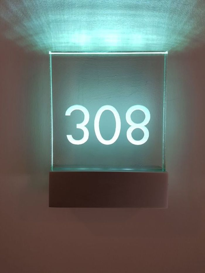My Door Number Is 308, They Installed It Upside Down Though