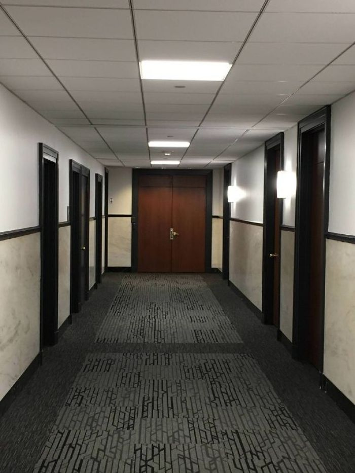This Door I See Everyday At The End Of The Hallway At My Work