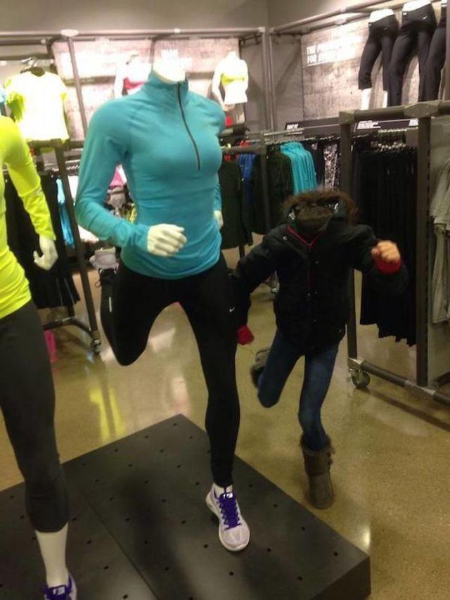 De compras con niños