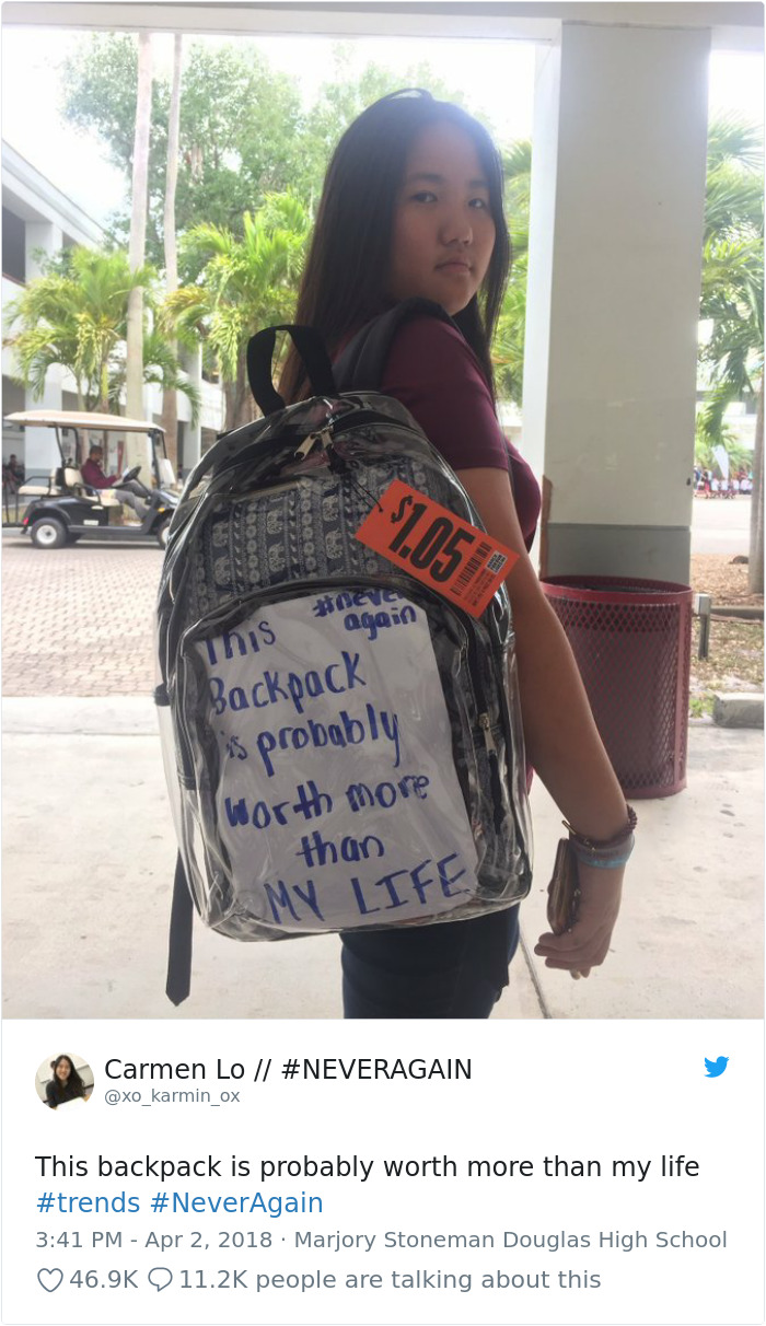 980832580156223491-png__700 Parkland Students Are Trolling Their Mandatory Clear Backpacks By Carrying Things That Scare Conservatives The Most Design Random