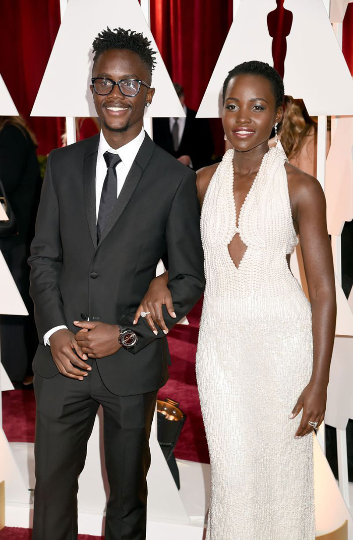 Lupita Nyong'o With Her Brother Peter