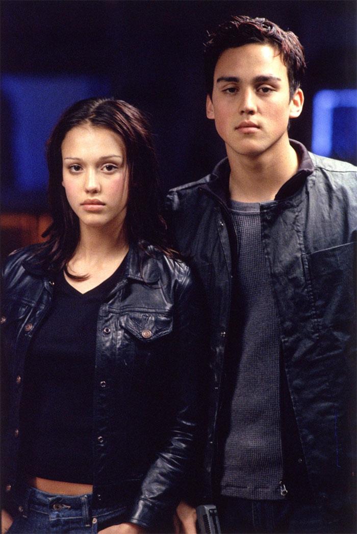 Jessica Alba With Her Brother Joshua