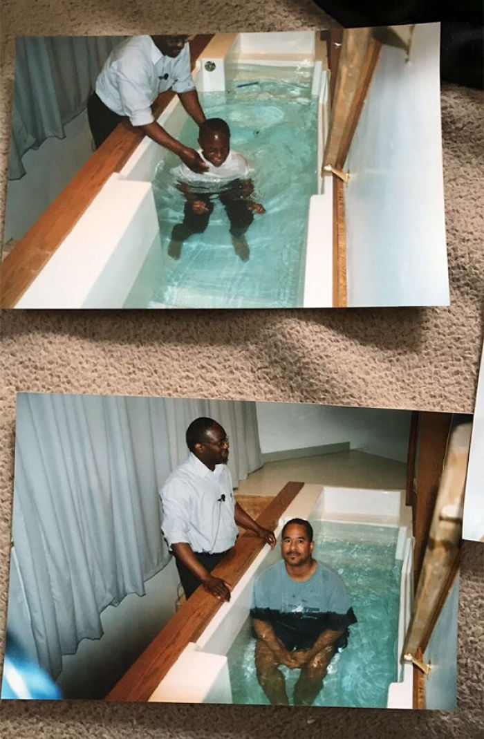 Found A Random Family's Baptism Photos At Goodwill And Felt Obligated To Take Them Home With Me, So I Did