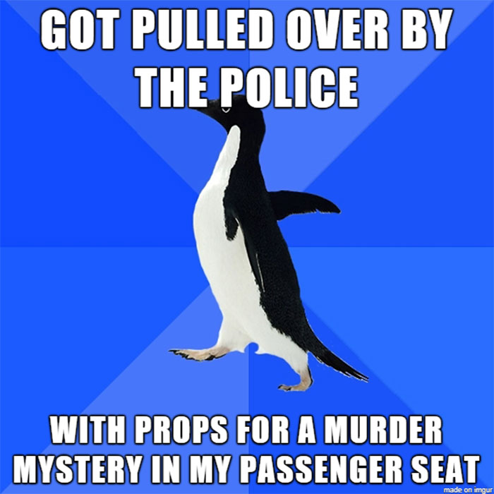 police-stop-murder-weapons-props-22 Guy Gets Pulled Over By Police, Suddenly Realizes He Has Murder Weapon Props In Passenger Seat Design Random