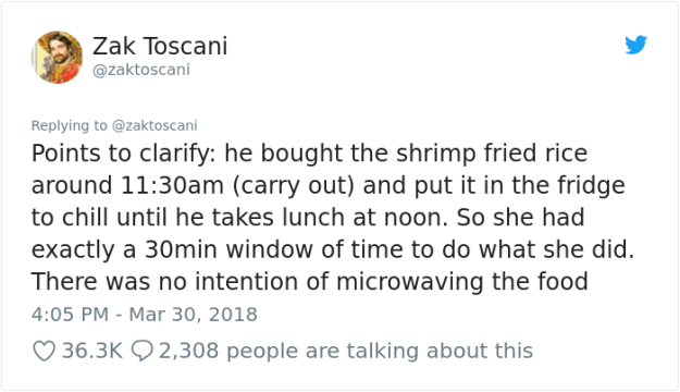 stolen-office-lunch-shrimp-fried-rice-zak-toscani-8 Guy's Lunch Gets Stolen At Work So He Asks To See The Security Tape, Can't Believe His Eyes Design Random