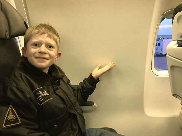 We Booked A Window Seat On A Airplane For My Boy's First Flight