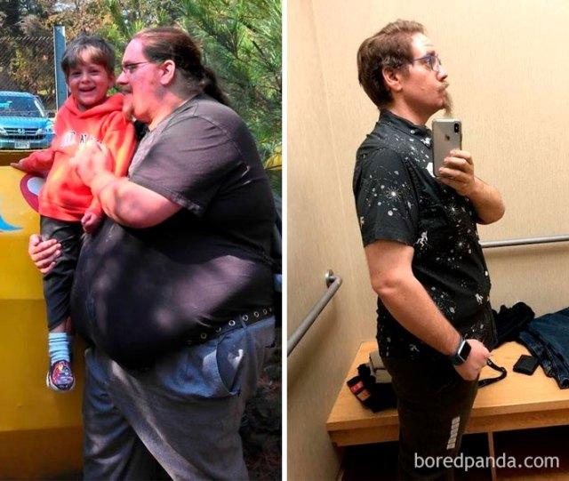 De 240 kilos a 129 en 40 meses