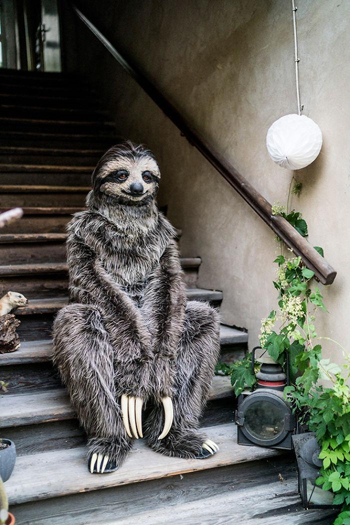 I Created A Realistic Sloth Costume Bored Panda