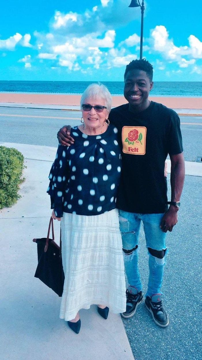 A 22-Year-Old Guy From Harlem Befriended An 81-Year-Old Woman Who He Met Playing Words With Friends Over The Past Year. Last Week He Traveled To Florida And Met Her In Person For The First Time