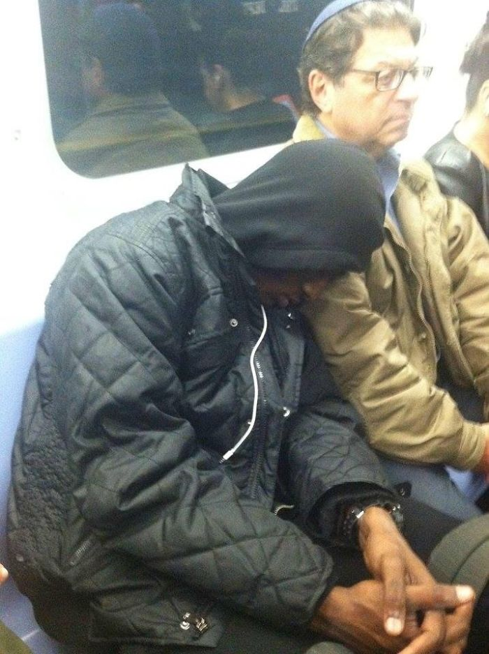 Someone Falls Asleep On His Shoulder; Lets Him Sleep 12 More Stops Claiming,