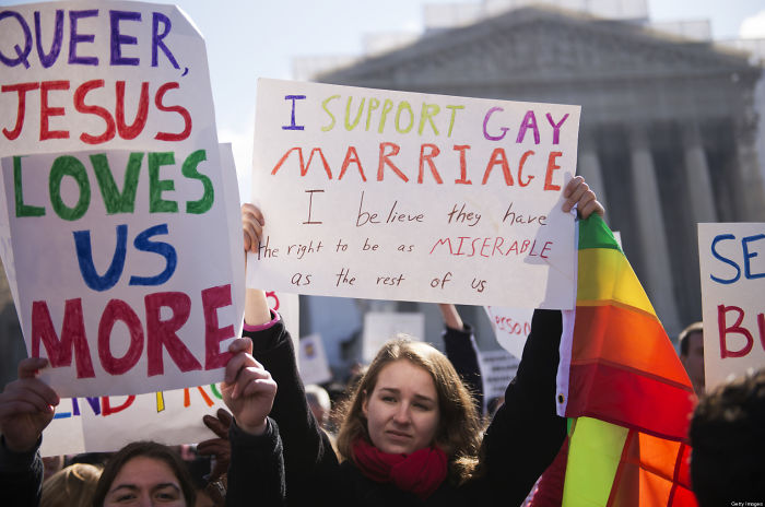 I Support Gay Marriage. I Believe They Have The Right To Be As Miserable As The Rest Of Us