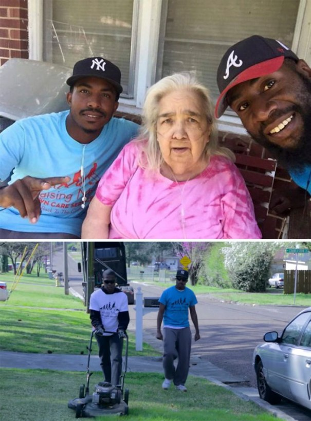 There Is A Local Group That Cuts Lawns For The Elderly, Disabled, And Single Parent Mothers For Free. Here They Are With My Grandma
