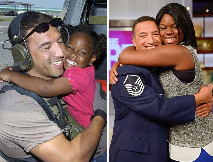 Pararescueman Sgt. Mike Maroney Reunited With A Girl He Saved 10 Years Ago During Hurricane Katrina