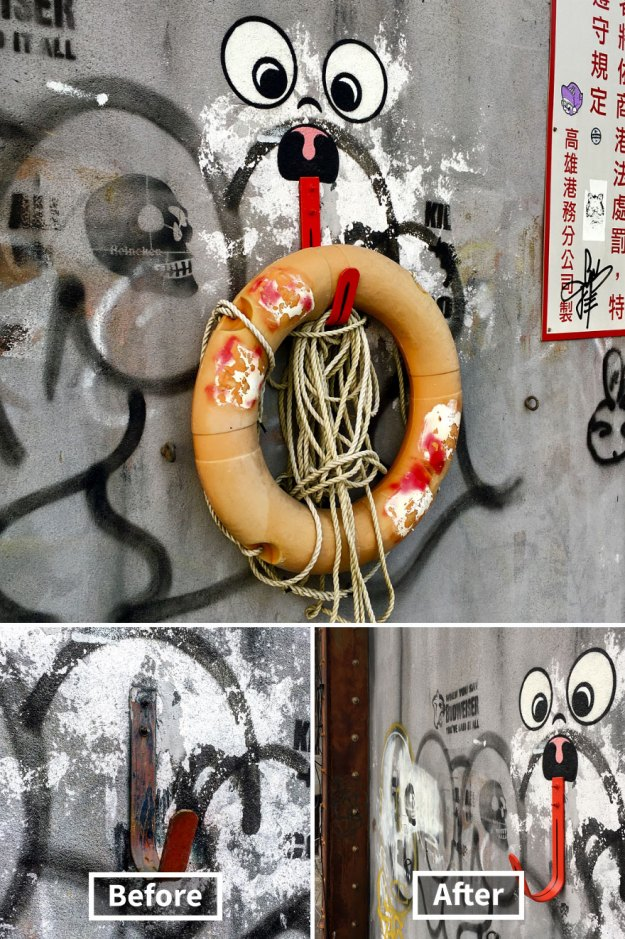 street-art-tom-bob-new-york-city-11-5b169f6552536__880 Genius Street Artist Is Running Loose In New York, And Let's Hope Nobody Catches Him (30+ New Pics) Art Design Random