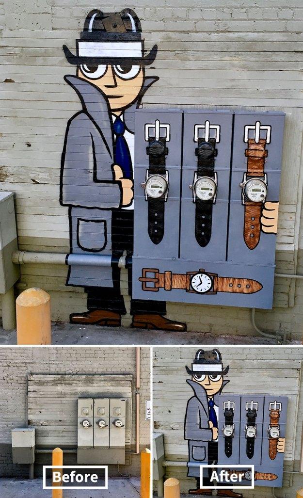 street-art-tom-bob-new-york-city-23-5b169f7fd6115__880 Genius Street Artist Is Running Loose In New York, And Let's Hope Nobody Catches Him (30+ New Pics) Art Design Random