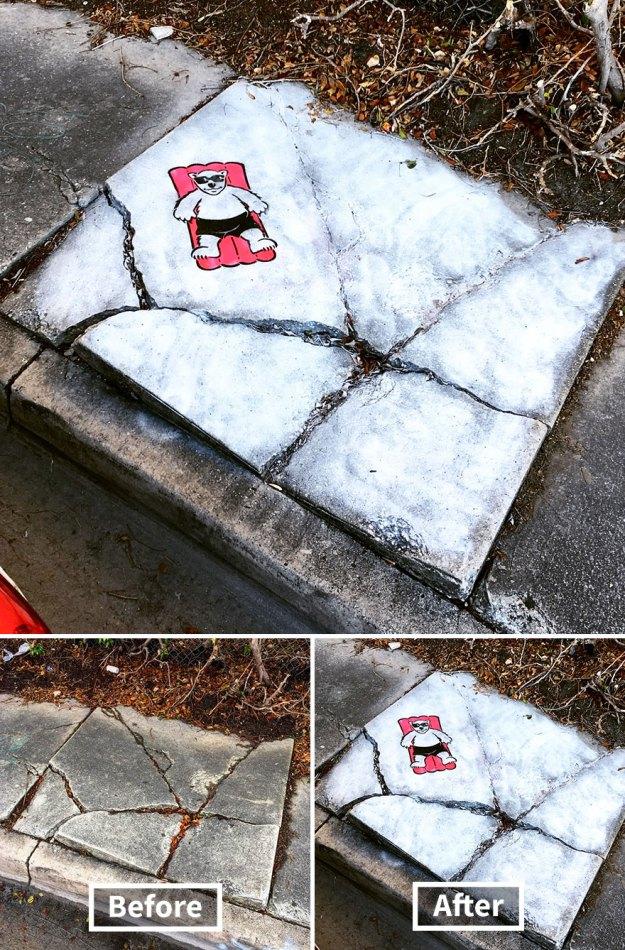 street-art-tom-bob-new-york-city-26-5b169f8b1d111__880 Genius Street Artist Is Running Loose In New York, And Let's Hope Nobody Catches Him (30+ New Pics) Art Design Random