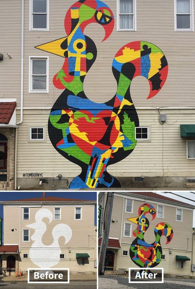street-art-tom-bob-new-york-city-40-5b169fb6d95e4__880 Genius Street Artist Is Running Loose In New York, And Let's Hope Nobody Catches Him (30+ New Pics) Art Design Random