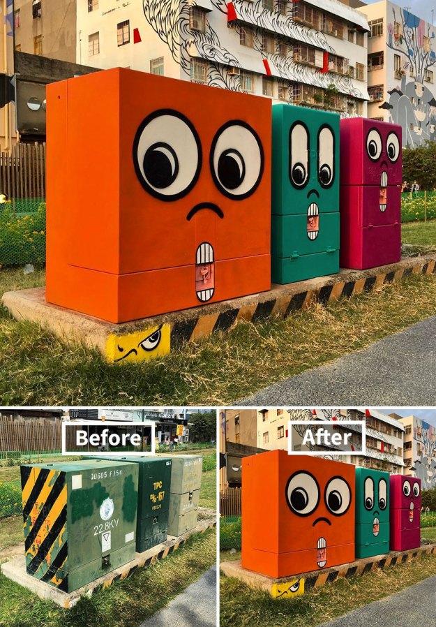 street-art-tom-bob-new-york-city-44-5b169fc2daedc__880 Genius Street Artist Is Running Loose In New York, And Let's Hope Nobody Catches Him (30+ New Pics) Art Design Random