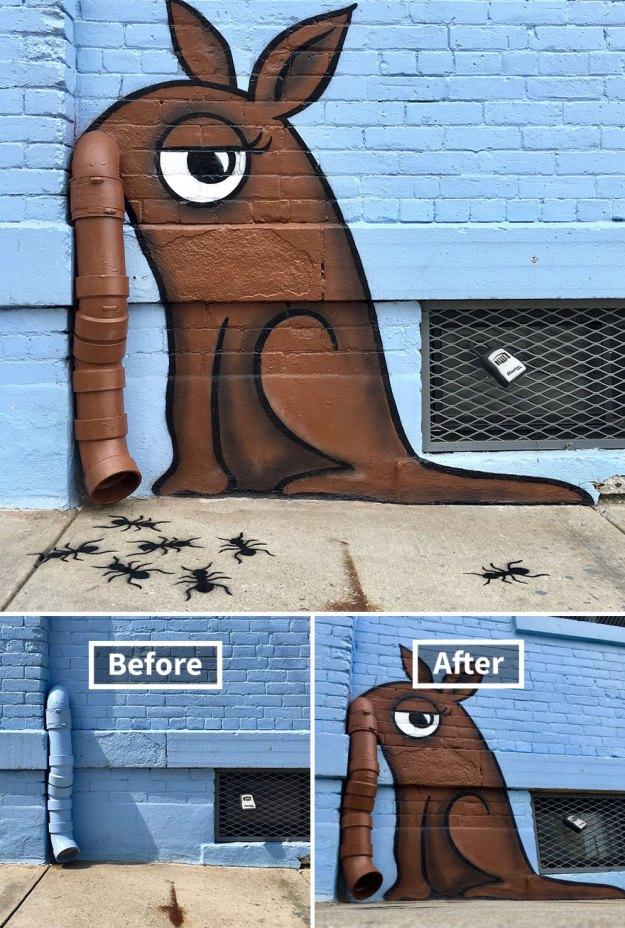 street-art-tom-bob-new-york-city-46-5b16a07b233e5__880 Genius Street Artist Is Running Loose In New York, And Let's Hope Nobody Catches Him (30+ New Pics) Art Design Random