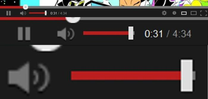 The Volume Slider On Youtube. It's At Max Right Now