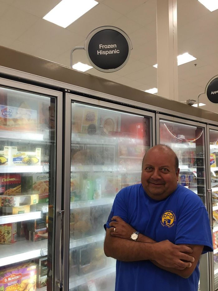 Un padre que es padre en un supermercado