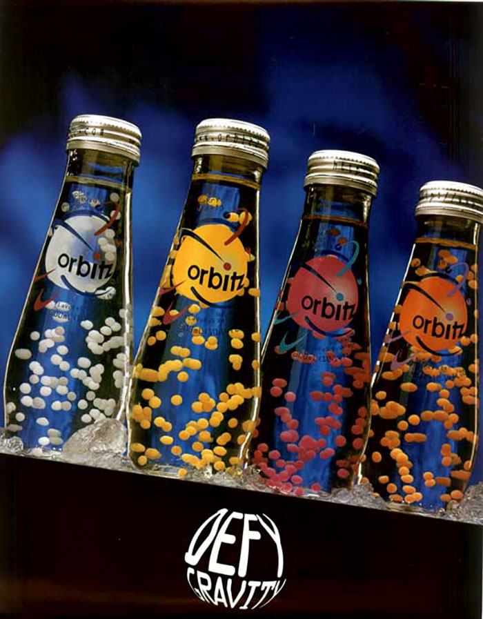 Orbitz Soda, Clearly Canadian Beverage Corporation, 1997