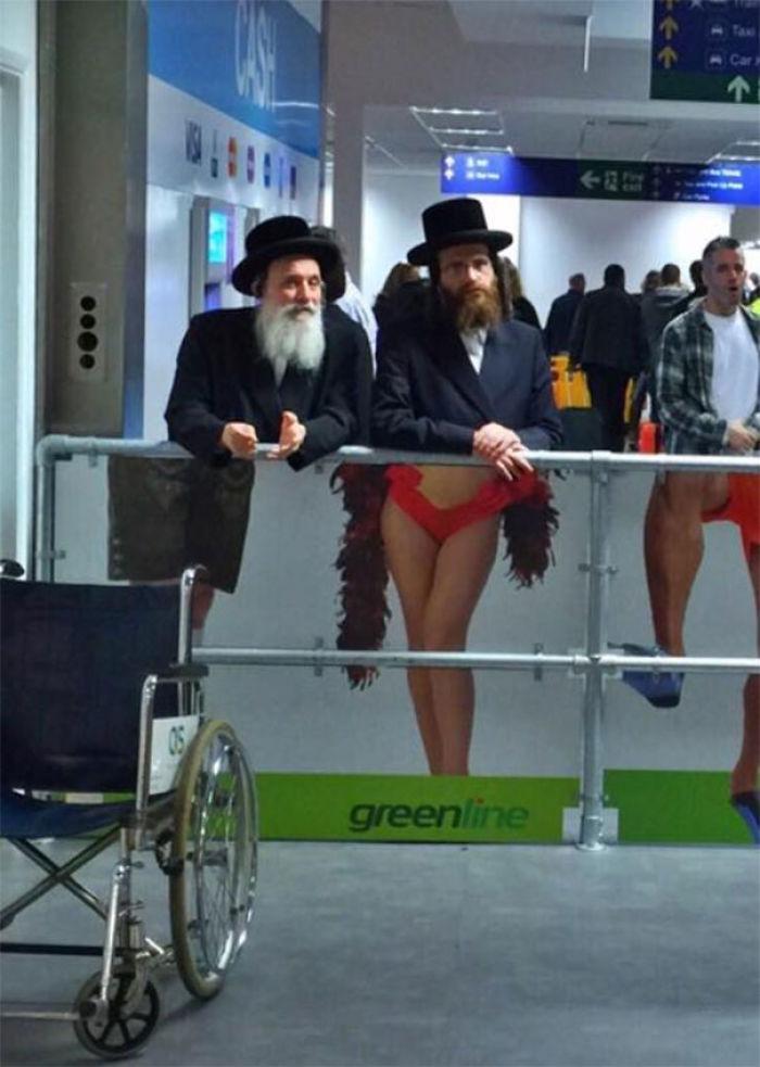 Visto en el aeropuerto de Tel Aviv, Israel