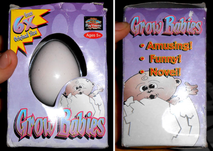 """grow-baby-water-toy-5b435608f317a__700 Someone Finds Old """"Grow In Water"""" Egg At Goodwill And Puts It In Water, Regrets It 23 Hours Later Design Random"""