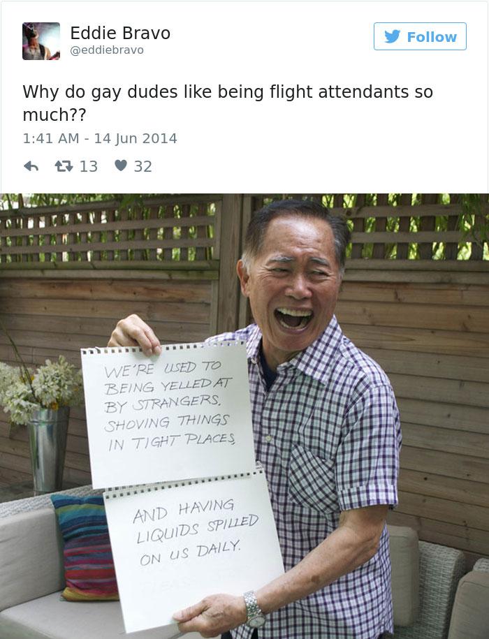 Asistentes de vuelo gay