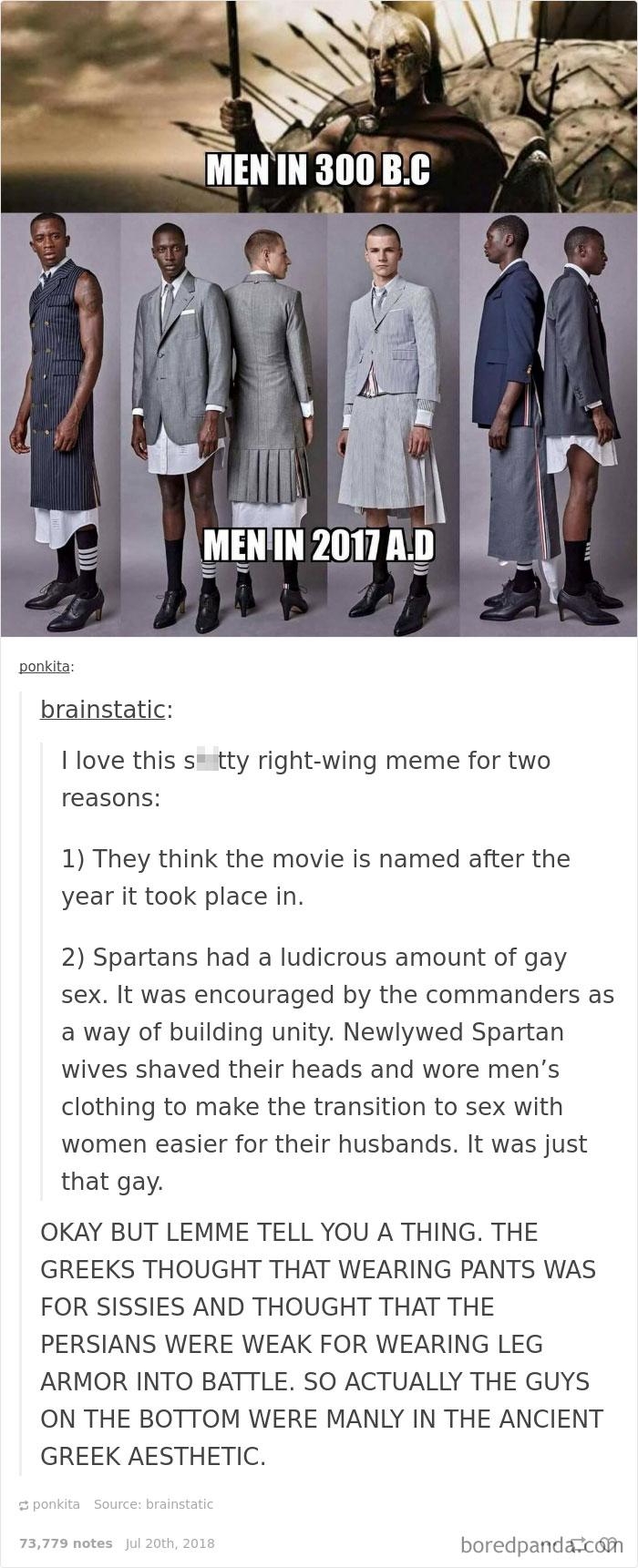 Hombres entonces y ahora