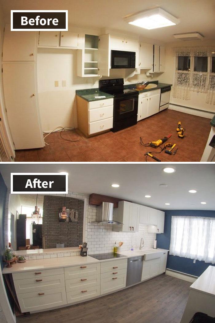 Destripado y reemplazado mi cocina de 68 años en los últimos 3 meses