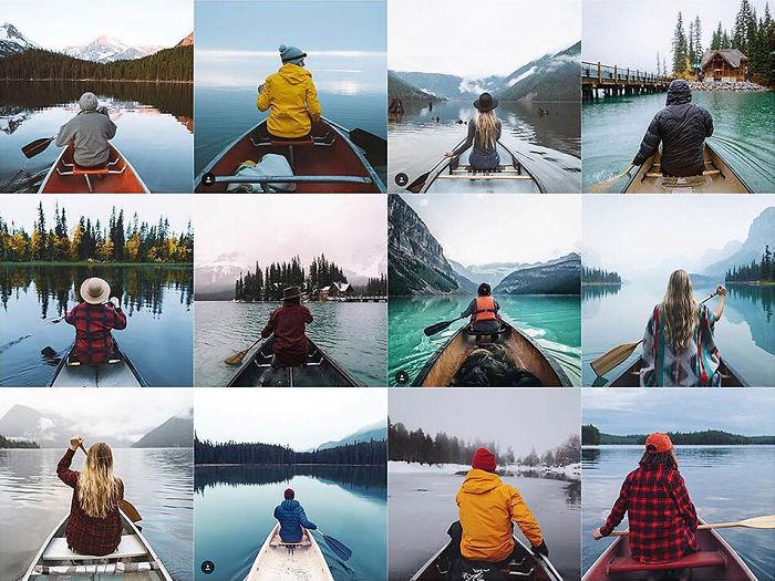Centrado en persona en canoa