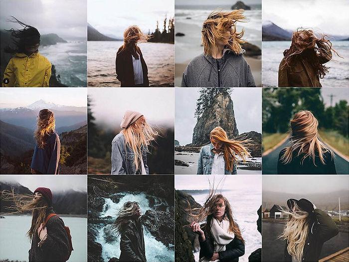 Hacia adelante mirando a medio cabello Windy Hair