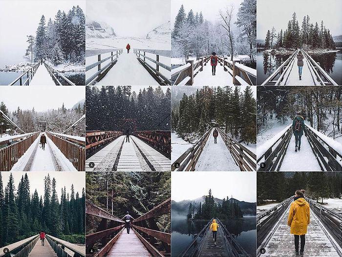 Persona centrada en un puente