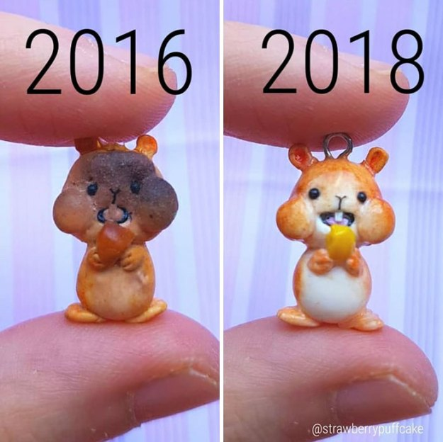 Clay-modeling-artist-showed-how-the-experience-made-him-evolve-and-this-progress-is-very-good-to-see-5b6aabc354f1a__700 Artist Tries To Recreate Her Old Artworks, Gets Pleasantly Surprised By How Much She Has Evolved (10+ Pics) Art Design Random
