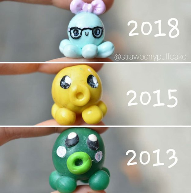 Clay-modeling-artist-showed-how-the-experience-made-him-evolve-and-this-progress-is-very-good-to-see-5b6aabc67f1e8__700 Artist Tries To Recreate Her Old Artworks, Gets Pleasantly Surprised By How Much She Has Evolved (10+ Pics) Art Design Random