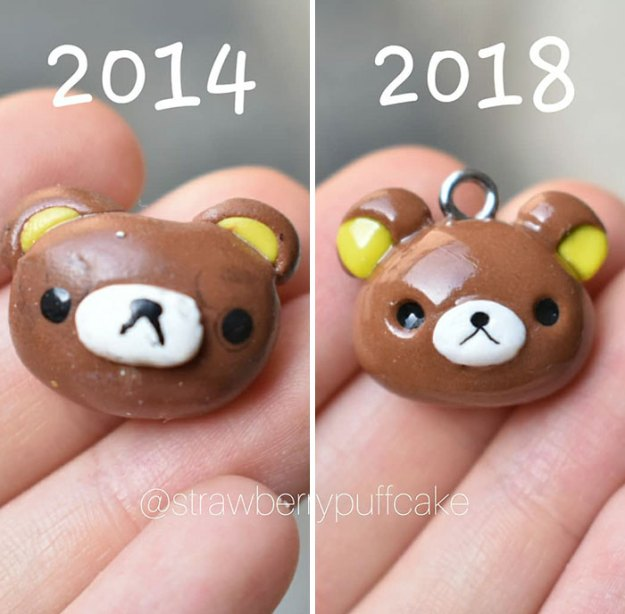 Clay-modeling-artist-showed-how-the-experience-made-him-evolve-and-this-progress-is-very-good-to-see-5b6aabc998341__700 Artist Tries To Recreate Her Old Artworks, Gets Pleasantly Surprised By How Much She Has Evolved (10+ Pics) Art Design Random