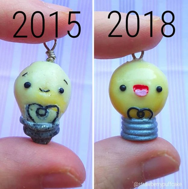 Clay-modeling-artist-showed-how-the-experience-made-him-evolve-and-this-progress-is-very-good-to-see-5b6aabf82bc68__700 Artist Tries To Recreate Her Old Artworks, Gets Pleasantly Surprised By How Much She Has Evolved (10+ Pics) Art Design Random