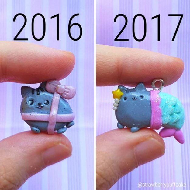 Clay-modeling-artist-showed-how-the-experience-made-him-evolve-and-this-progress-is-very-good-to-see-5b6aac7dd6045__700 Artist Tries To Recreate Her Old Artworks, Gets Pleasantly Surprised By How Much She Has Evolved (10+ Pics) Art Design Random