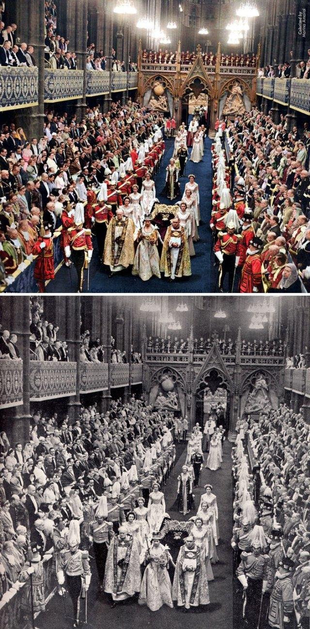 Coronación de la reina Isabel II. dos de Junio de 1953