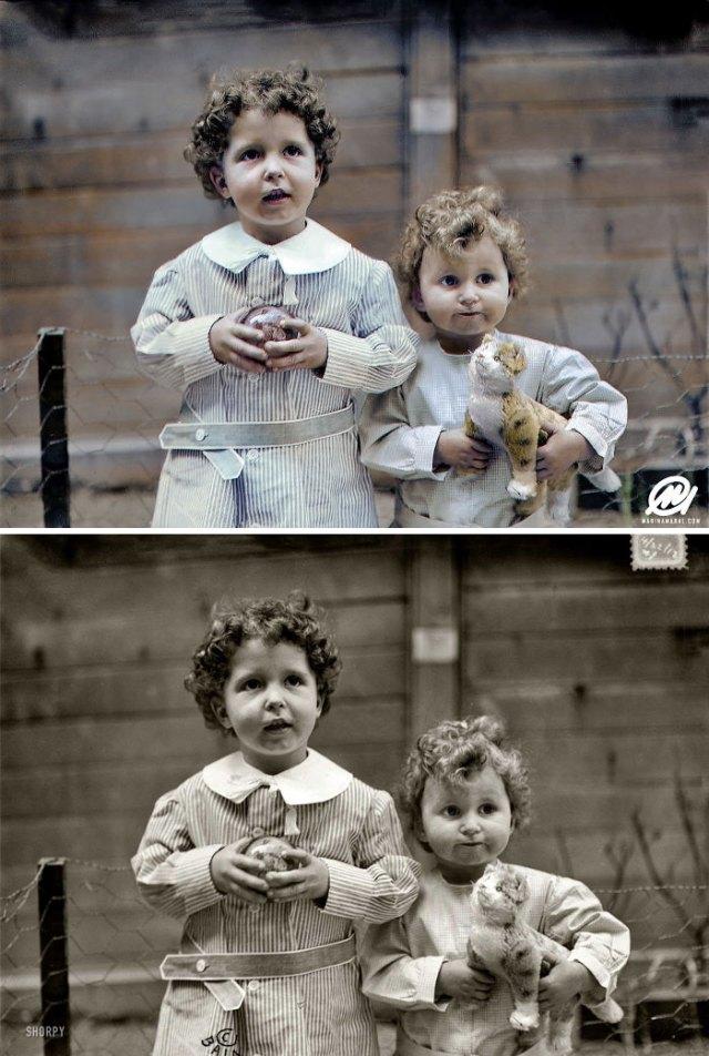 Los hermanos Michel y Edmond Navratil, los únicos chicos rescatados del Titanic sin nadie a su cargo, 1912